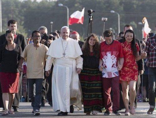 Papež in mladi, Krakov 2016 FOTO: Vatican Media